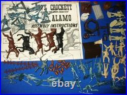 VINTAGE MARX PLAYSET WALT DISNEY DAVY CROCKETT AT THE ALAMO 1950's KING FRONTIER