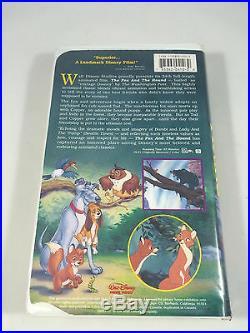 VINTAGE RARE The Fox and the Hound Walt Disney Black Diamond Classic