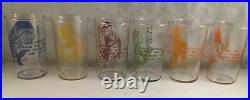 VINTAGE WALT DISNEY PRODUCTIONS PINOCCHIO CHARACTER LIBBEY TUMBLERS GLASS With BOX