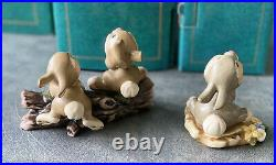 VINTAGE WDCC BAMBI, THUMPER & THUMPERS SISTERS COLLECTION WALT DISNEY Set Of 3