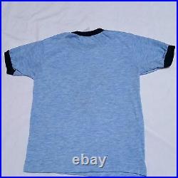 VTG 80's Mickey Mouse T Shirt Ringer Florida Polyester Acrylic Walt Disney Small