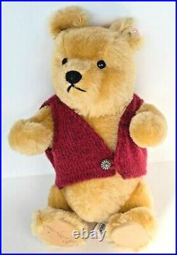 VTG STEIFF Walt Disney Winnie the Pooh SIGNED Mohair NEW WithTAGS 1994 RARE