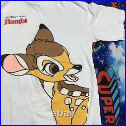 VTG Walt Disney Classic Bambi Movie Promo T-Shirt Double Sided Single Stitch XL