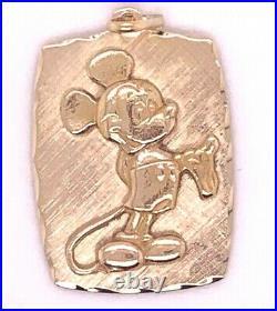 Vintage 14 K Yellow Gold Walt Disney Mickey Mouse Charm