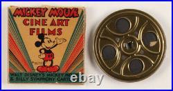 Vintage 1940's Walt Disney Mickey Mouse 8mm Film Reel with Original Box