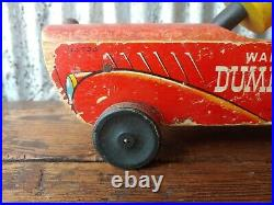 Vintage 1940s Walt Disney Dumbo Circus Fisher Price Wood Pull Toy No. 738
