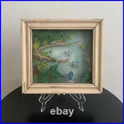 Vintage 1942 Walt Disney Bambi Bluebirds In Spring Multiplane Art Courvoisier