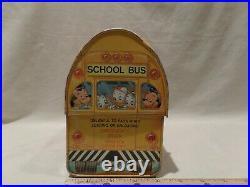 Vintage 1960's Walt Disney Metal Dome School Bus Lunch Box