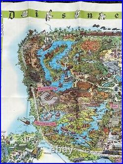 Vintage 1964 Walt Disneys Magic Kingdom Disneyland Map