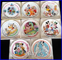 Vintage 1974-1981 Walt Disney Schmid Collector Plate Set Mother's Day Plates