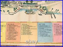Vintage 1974 WALT DISNEY WORLD Magic Kingdom PARK Guide MAP POSTER 39 x 31