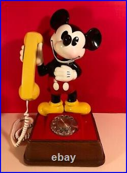 Vintage 1976 The Mickey Mouse Phone Rotary Dial Telephone Walt Disney EXCELLENT