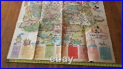 Vintage 1979 Walt Disney World Magic Kingdom Park Poster Map MINE PERSONALLY