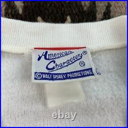 Vintage 1980s 70s Mickey Mouse Cowboy Gunslinger Sweater Sz M Walt Disney RARE