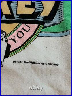 Vintage 1987 Mickey Mouse Walt Disney World Pullover Sweatshirt Made In USA Sz L