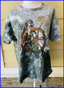 Vintage 1990s Pirates Of The Caribbean Disney Single StitcH Tie Dye T-Shirt L