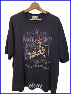 Vintage 1990s Walt Disney World Tower of Terror T-shirt Size XL RARE