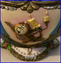 Vintage 1991 Walt Disney Beauty And The Beast Belle Music Box Teapot Princess