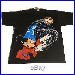 Vintage 1994 Walt Disney World Disneyana Mickey Fantasia Wizard Black T-Shirt OS
