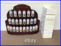 Vintage 1995 Disney Lenox Porcelain Spice Jar Collection X 24 & Rack Complete