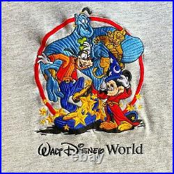 Vintage 1996 Walt Disney World 25th Anniversary Embroidered Crewneck Sweatshirt