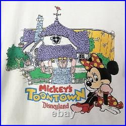 Vintage 80's Disney Character Fashions Toontown T-Shirt Minnie Mouse RARE Sz L