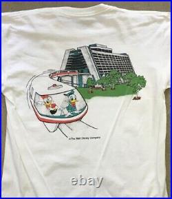 Vintage 80s MICKEY MOUSE & FRIENDS contemporary resort WALT DISNEY WORLD T SHIRT