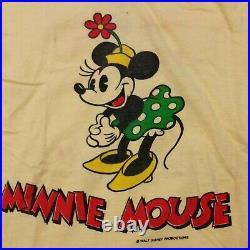 Vintage 80s Minnie Mouse T Shirt Walt Disney World Single Stitch Mickey Small