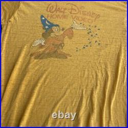 Vintage 80s RARE Paper Thin Walt Disney Home Videos T-Shirt Size L