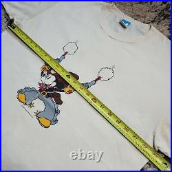 Vintage 80s Rare Walt Disney Two-Gun Mickey Mouse T-Shirt Cowboy Minnie Size XL