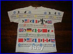 Vintage 90's Walt Disney Epcot All Over Print T Shirt XL