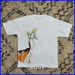 Vintage 90s Disney Big Bambi T-Shirt Movie Promo Single Stitch Tee Sz XL White