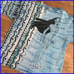 Vintage 90s Disney Pocahontas All Over Movie Promo T-Shirt Large Single Stitch