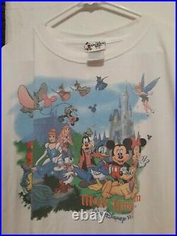 Vintage 90s Disney Walt Disney World Magic Kingdom T Shirt Mickey Mouse mens 2XL