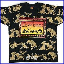 Vintage 90s THE LION KING WALT DISNEY T-Shirt XL movie cartoon hip hop