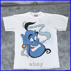 Vintage 90s WALT DISNEY ALADDIN GENIE T-Shirt LARGE movie promo cartoon