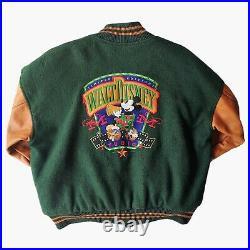 Vintage 90s Walt Disney Limited Edition Varsity Baseball Jacket. Retro Letterman