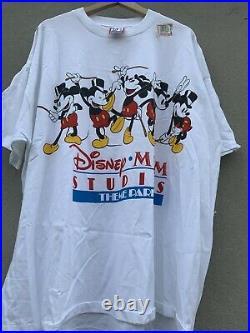 Vintage 90s Walt Disney Studios Mickey Mouse MGM Designs T Shirt (Rare)4XL