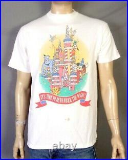 Vintage 90s Walt Disney World 25th Anniversary T-Shirt 2 Sided AOP Genie Simba L