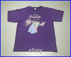Vintage 90s Walt Disney's CINDERELLA Cast & Crew Company D T-Shirt Adult Size XL