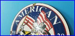 Vintage American Gasoline Porcelain Gas Walt Disney Service Station Pump Sign