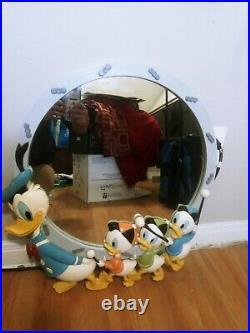 Vintage Bassett Walt Disney Donald Duck & Huey Dewey Louie Nephews Wall Mirror