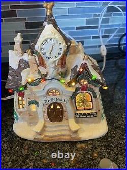 Vintage Collectible Walt Disney Christmas Village Set