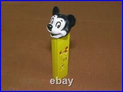 Vintage Diecut Pez Mickey Mouse-no feet- Minnie Mouse cutout side Walt Disney