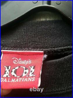 Vintage Disney 101 DALMATIANS BIG PRINT SWEATER CREWNECK SHIRT XL