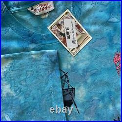 Vintage Disney Typhoon Lagoon All Over Print Single Stitched Shirt VTG RARE HTF