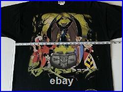 Vintage Disney Villains Double Sided Group Witch Hades Scar L/XL T Shirt Rare