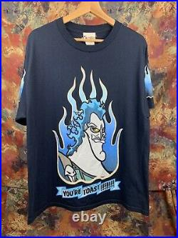 Vintage Disney Villains Hercules Hades t shirt Size L Your're Toast Tee
