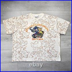 Vintage Disney World Pirates of the Caribbean Shirt XL Mickey Mouse Map Walt