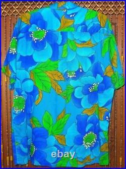 Vintage Disney World pre-1985 POLYNESIAN VILLAGE CAST MEMBER SHIRT tiki hawaiian
